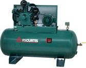 FS-Curtis CA10 Simplex Horizontal Air Compressor 10 HP, 120 Gallon