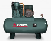 FS-Curtis CT10 Simplex Horizontal Air Compressor 10 HP, 120 Gallon
