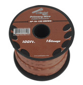 Audiopipe AP16100BR 16 Gauge 100Ft Brown Primary Wire