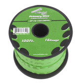 Audiopipe AP16100GR 16 Gauge 100Ft Green Primary Wire