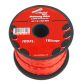 Audiopipe AP16100RD 16 Gauge 100Ft Red Primary Wire