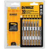 Dewalt DW3741C 10 Pc. T-Shank Jig Saw Blade Set W/Case