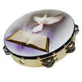 "Nippon America ATMDOV8 8"" Dove And Bible Tambourine"