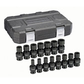 "Gearwrench 84939N 15 Piece 1/2"" Drive 6 Point Metric Universal Impact Socket Set"