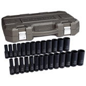 "Gearwrench 84949N 27 Piece 1/2"" Drive 6 Point SAE/Metric Deep Impact Socket Set"
