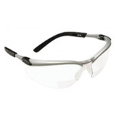 3M 11376 3MBX Reader Protective Eyewear Silver Frame Clear Lens +2.5 Diopter