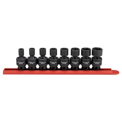 "Gearwrench 84917N 8 Piece 3/8"" Drive 6 Point SAE Universal Impact Socket Set"