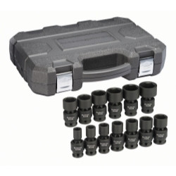 """Gearwrench 84938N 3 Piece 1/2"""" Drive 6 Point SAE Universal Impact Socket Set"""