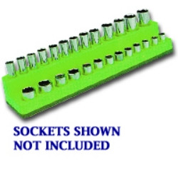 Mechanics Time Saver 725 1/4 in. Drive Magnetic Green Socket Holder 4-14mm