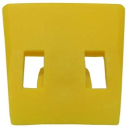 The Main Resource TCY7876-4 Yellow Plastic Inserts for Clamps ( Pack of 4 )