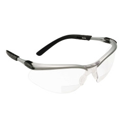 3M 11374 BX Reader Protective Eyewear Silver Frame Clear Lens +1.5 Diopter