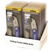 Titan Tools 11018-12 12 Piece Folding Pocket Utility Knife Display - Blue