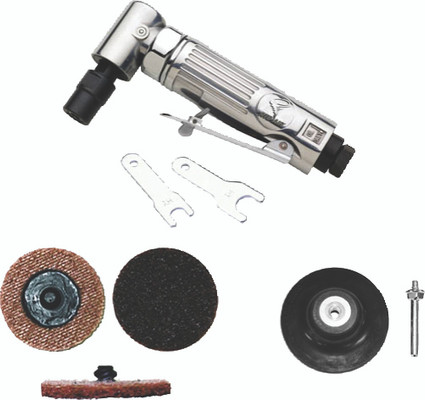 """ATD Tools 21310 1/4"""" Mini Angle Air Die Grinder/Surface Conditioning Kit"""