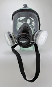 "Gerson Company 9900-KIT3 Full Face _One Size Fits All"""" Respirator Kit"