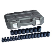 "Gearwrench 84933N 25 Pc. 1/2"" Drive 6 Point Metric Impact Socket Set"