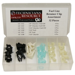 The Main Resource OPK335 32 Piece Fuel Line Retainer Clip Assortment