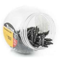 """Titan Tools 16182-50 50 Pc. 2-1/2"""" TT-20 Double End Torsion Bit Set"""