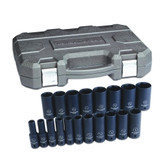 "Gearwrench 84934N 19 Pc.1/2"" Dr 6 Point SAE Deep Impact Socket Set"