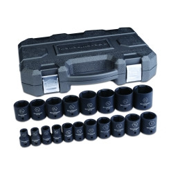 "Gearwrench 84932N 19 Pc. 1/2"" Drive 6 Point SAE Impact Socket Set"