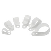 "JT&T 4654H 16 Piece 1/8"" thru 1"" I.D. Natural Nylon Clamps Assort"