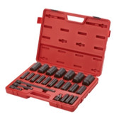 "Sunex Tools 2824 24 Piece 1/2"" Drive Deep Impact Socket Set -SAE"