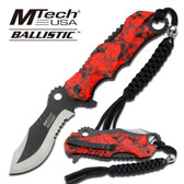 Mtech MTA808RD Spring Assisted Knife Green/Black Alum. Handle