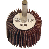 "The Main Resource MI506 Flap Wheel 1.5"" x 1"" x 1/4"" - 40 Grit"