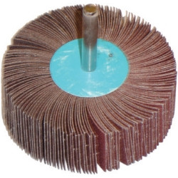 "The Main Resource MI520 Flap Wheel 3"" x 1"" x 1/4"" - 180 Grit"