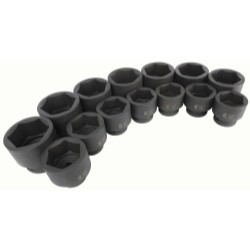 "Sunex Tools 5616 16 Pcs 1"" Drive Deep SAE Impact Socket Set"