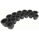 "Sunex Tools 5616 16 Pcs 1"" Drive Deep SAE Impact Socket Set"
