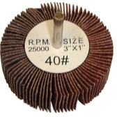 "The Main Resource MI516 Flap Wheel 3"" x 1"" x 1/4"" - 40 Grit"