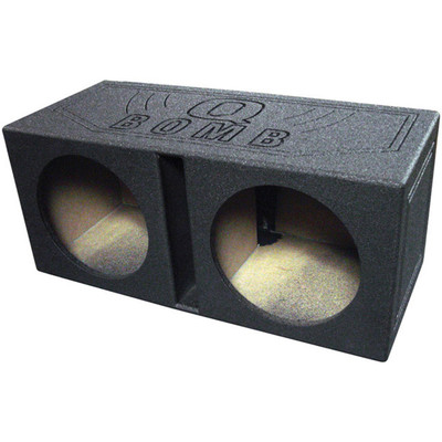 """Qpower QBOMB10V Qbomb Dual 10"""" Woofer Ported Speaker Box"""