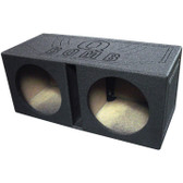 "Qpower QBOMB10V Qbomb Dual 10"" Woofer Ported Speaker Box"