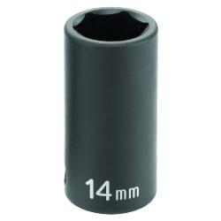 "Grey Pneumatic 1007MSD 3/8""Dr 7Mm Semi Deep Socket 6Pt"