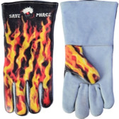 "Save Phace 3012398 ""Fired Up"" Welding Gloves - Size L"