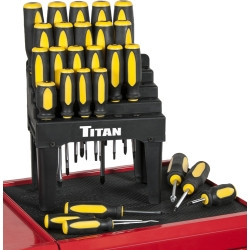 Titan Tools 17203 26 Piece Screwdriver Set with Stand