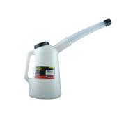 K Tool 74649 Plastic Measure Flex Spout w/Lid, 1 Qt