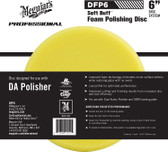 "Meguiars DFP6 6"" Soft Buff DA Foam Polishing Disc"