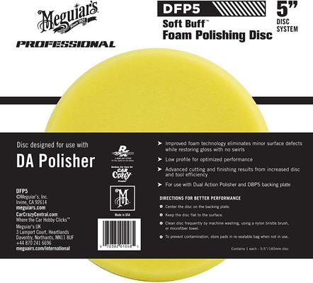 "Meguiars DFP5 5"" Soft Buff DA Foam Polishing Disc"