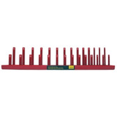 "K Tool 72473 1/2"" Drive SAE Socket Holder, Red"