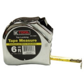"K Tool 72606 Tape Measure 1/2""x 6', 2M"
