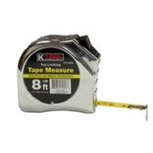 "K Tool 72608 Tape Measure 1/2"" x 8' 3M"
