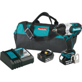 """Makita XWT08M LXT Lithium-Ion Brushless Cordless High Torque Square Drive Impact Wrench with Friction Ring Anvil Kit, 18V/1/2"""""""