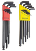Bondhus 20699 Ball End Tip Screwdriver Set w/ProGuard Finish &  Long Arm, 13 Pc.