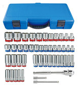 "KT Pro A3005CR 3/8"" Drive 47-Piece Combination SAE and Metric Socket Set"