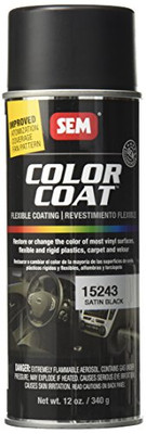 SEM Paints 15243 Color Coat - Satin Black Aerosol