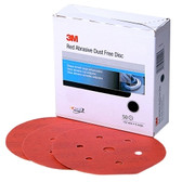 "3M 01137 Red Abrasive Hookit Disc, Dust Free, 6"", P600 Grit, 50 Per Box"
