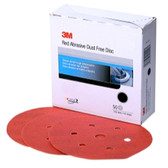 "3M 01145 Red Abrasive Hookit DIsc Dust Free, 6"", P120 Grit, 50 Per Box"
