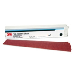 "3M 01182 Red Abrasive Hookit Sheet, 40D, 2-3/4"" x 16-1/2"", 25 Per Box"