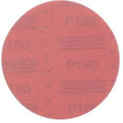 "3M 01222 Red Abrasive Hookit Disc, 6"", P180 Grit, 50 Per Box"